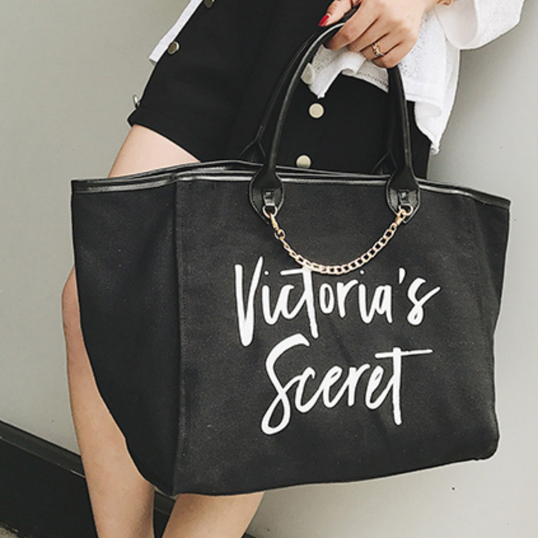 c9fd9119b0e5 Victoria s Secret Canvas Large Tote Bag