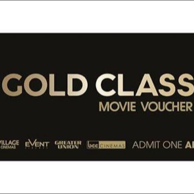 Village Gold Class Tickets X2