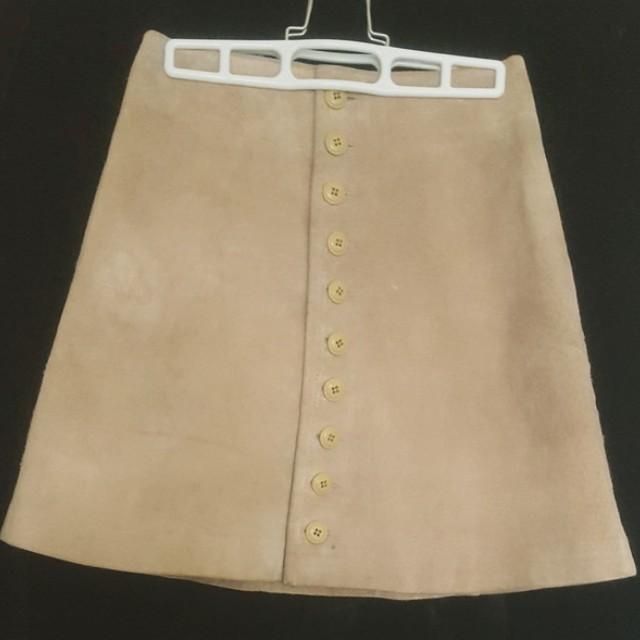 Vintage Suede Mini Skirt