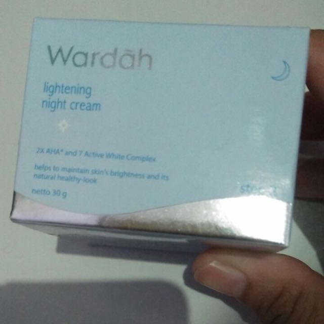 Wardah night cream lightening serius