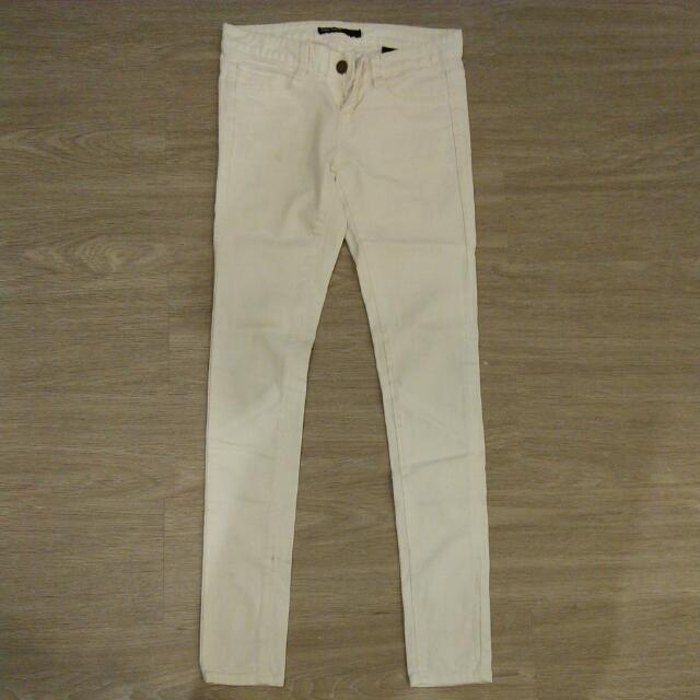 White Skinny Jeans Korea Sz 25