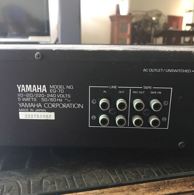 Yamaha EQ-70 10 Band Stereo Graphic Equalizer Made in Japan