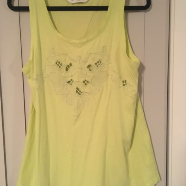 Yellow Ladies Seed top size XS