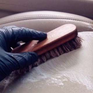Horse brushes for leather