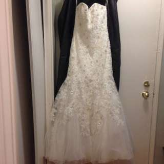 Size 10 new with tags mori lee golden sequence