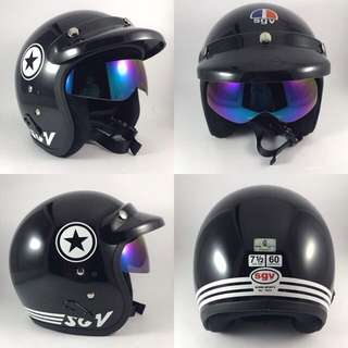Helmet SGV Star Black