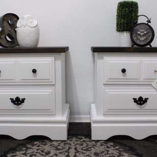 GORGEOUS TWO TONED SIDE TABLES