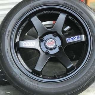 Te37sl 16 inch sports rim perdana tyre 70% . Stone cold the rock rikishi patu, sister this rim will look you like ratu!!