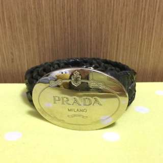 Prada logo belt black 黑色皮帶