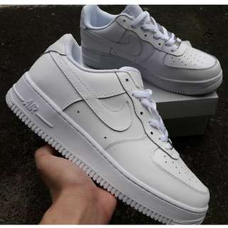 Nike Air Force 1 low   Colorways available: White, Flax(Wheat), Black/White, Triple Black