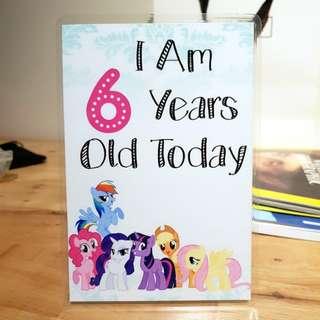 Customised Toddler Birthday Milestones Cards