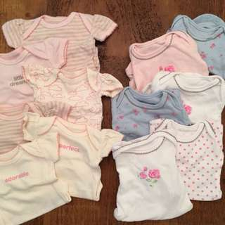 Mothercare onesies, never worn, Tiny Baby, 12 pcs