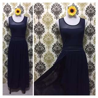Black Long Gown with Slit