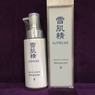 KOSE sekkisei supreme moisturizer ll