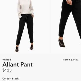 Aritzia Wilfred Allant Pant Size 0