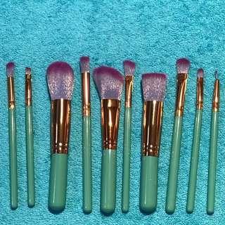 10pcs Soft Makeup Brush