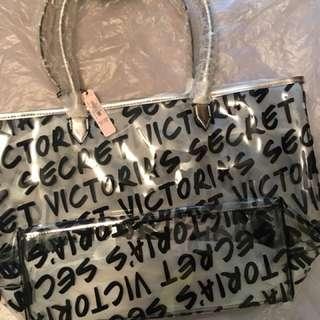 Victoria's Secret Beach Tote with Wristlet