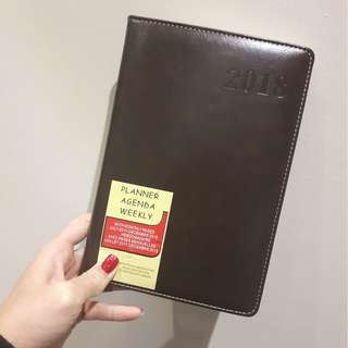 FAUX LEATHER Agenda 2018 (new)