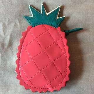 Like New Coach Pineapple Zip Coin Purse Case