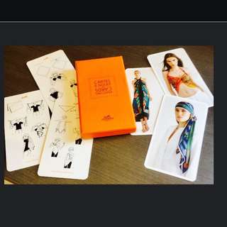 HERMES AUTHENTIC KNOTTING CARDS.