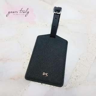 Personalised Name/Initial Saffiano Leather Luggage Tag [Customised]