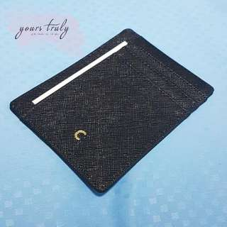 Personalised Name/Initial Saffiano Leather Card Holder [Customised]