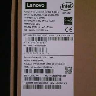 Lenovo ideapad 110S brand new
