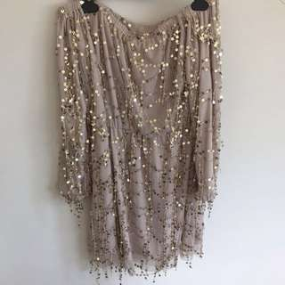 Off the shoulder sparkly dress