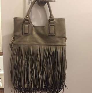 Fringe purse from ALDO wear it two ways! Grey fringe bag