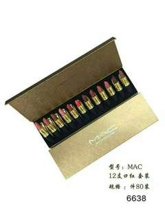 Mac 12pcs Lipstick Set