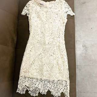 💃Elegant White lace dress