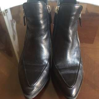 Zara black leather boots size 36/6