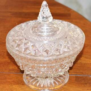 Cut Glass lidded and footed Compote