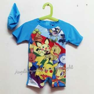 ✨ Clearance Sale✨ Pokemon Swimsuit with swimming Cap