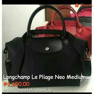 Longchamp Le Pliage Neo Medium Black