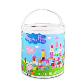 [益智建構玩具]珮珮豬Peppa Pig桶裝配對積木100pcs