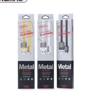 Remax Metal HighSpeed android micro apple  Type-C Cable