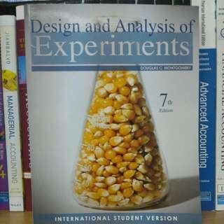 DESIGN ANALYSIS OF EXPERIMENTS