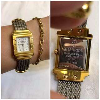Charriol Authentic St Tropez Square Face 2 Tone Watch