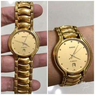 Rado Authentic Florence Gold Tone Unisex Watch
