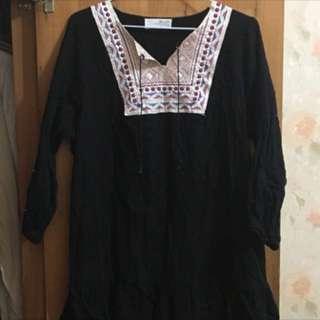 全新✨韓國製造🇰🇷 棉麻民族風上衣 #舊愛換新歡
