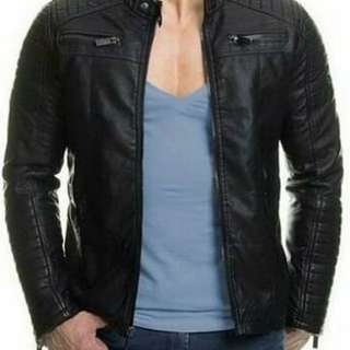 Mens Genuine Leather Slim fit Jacket