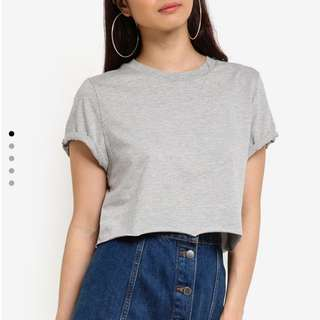 Bnwt Light Grey Crop Top INSTOCK