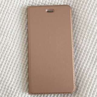 iPhone 7 PLUS rose gold flip case