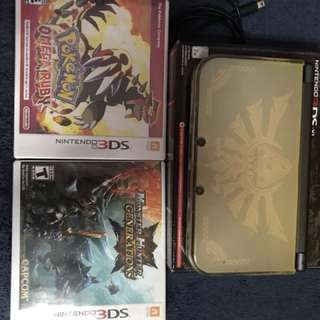 9.5/10 3DS XL barely used with all accessories and 2 games
