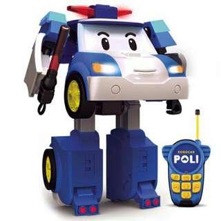 🚚 [電動遙控玩具]POLI 10吋 變形遙控波力/波力 救援小英雄/遙控車/可變形/