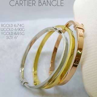 18K GOLD CARTIER BANGLE