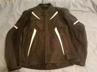 Mens Genuine Leather Custom Armor Jacket Size XL