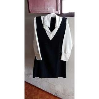 Overall monocrome dress shirt