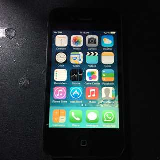 Iphone 4 16gb Full Box Set With Extra Parts - Used